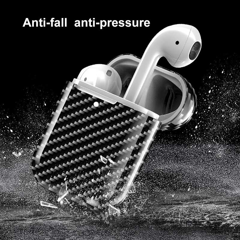 Carbon Fiber Hardshell Case Protection Box Compatible with Apple Airpods 2 LFX ING|Earphone Accessories| |  - title=
