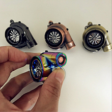 Hellaflush style Turbo keychain USB charging cigarette lighter Car turbine key ring JDM decorative auto accessories