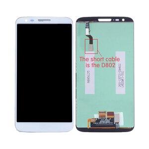 Image 5 - الأصلي ل LG G2 D802 LCD مجموعة المحولات الرقمية لشاشة تعمل بلمس ل LG G2 D800 عرض مع استبدال الإطار D801 D803 VS980 LS980