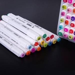 Touchfive 30/40/60/80/168 цвета художественные маркеры набор на спиртовой основе чернила Эскиз маркер ручка для художника Рисование манга анимационны...