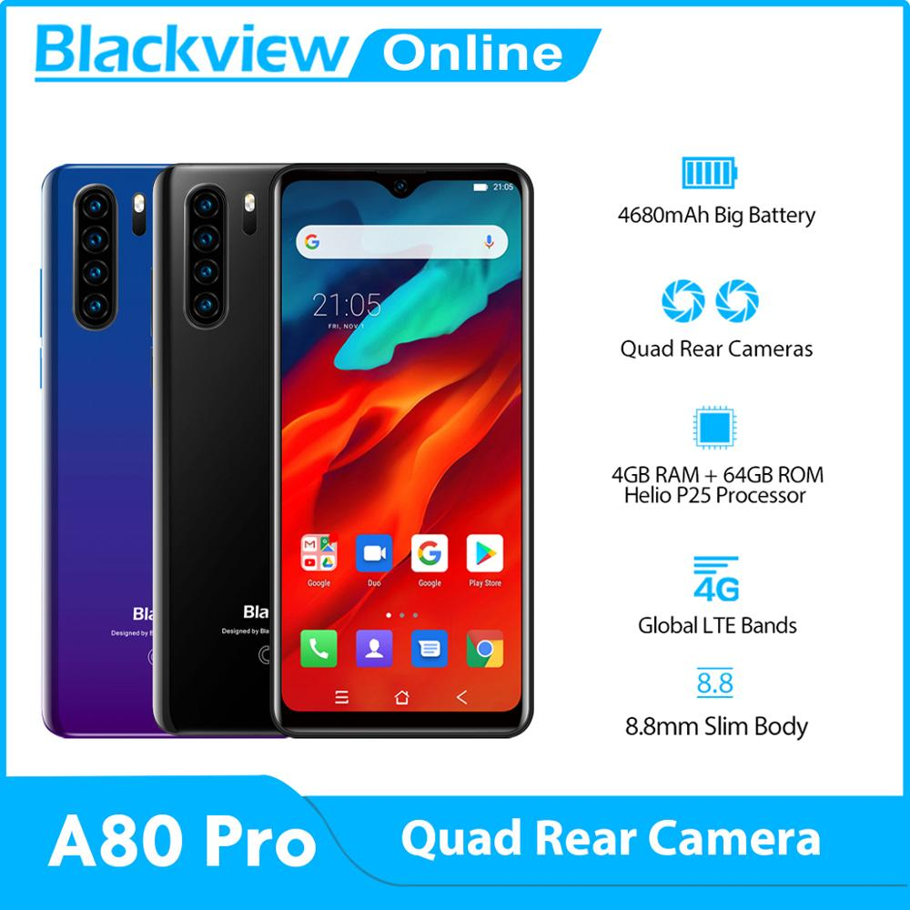 Blackview A80 Pro Global-Version 64GB 4gbb LTE/GSM/CDMA/WCDMA Octa Core 13mp New Mobile-Phone