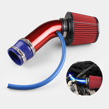 YEAHGOOD new 1 set 76mm 3 Auto Car Cold Air Induction Tube Kit Filter System Universal TP042 universal 76mm and 240mm height cold air filter red work 76mm air intake ep af002g