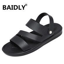Men Sandals Jelly-Shoes Water-Slides-Slippers Swimming Rubber Hole Male Summer PVC Casual