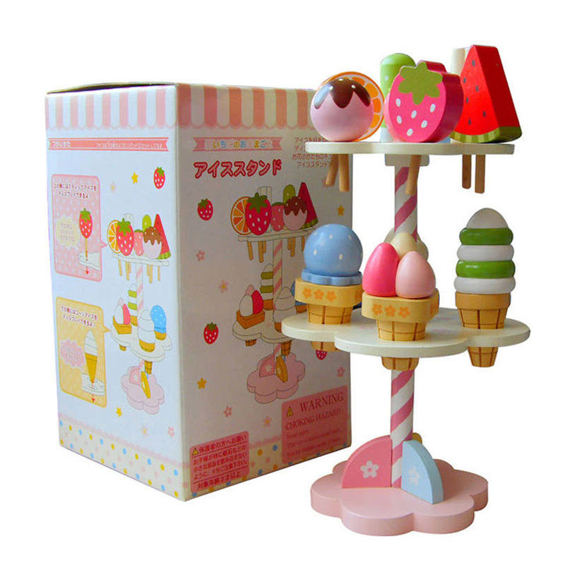 Baby Toys Simulation Magnetic Ice Cream Wooden Toys Pretend Play Kitchen Food Baby Infant Toys Food Birthday Christmas Gift Rat