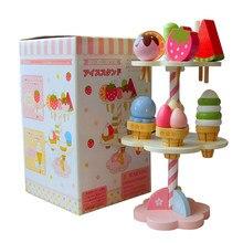 Brinquedos do bebê simulação magnético, sorvete, brinquedos de madeira, fingir, jogar, cozinha, alimentos, bebê, infantil, presente de aniversário, natal, rato