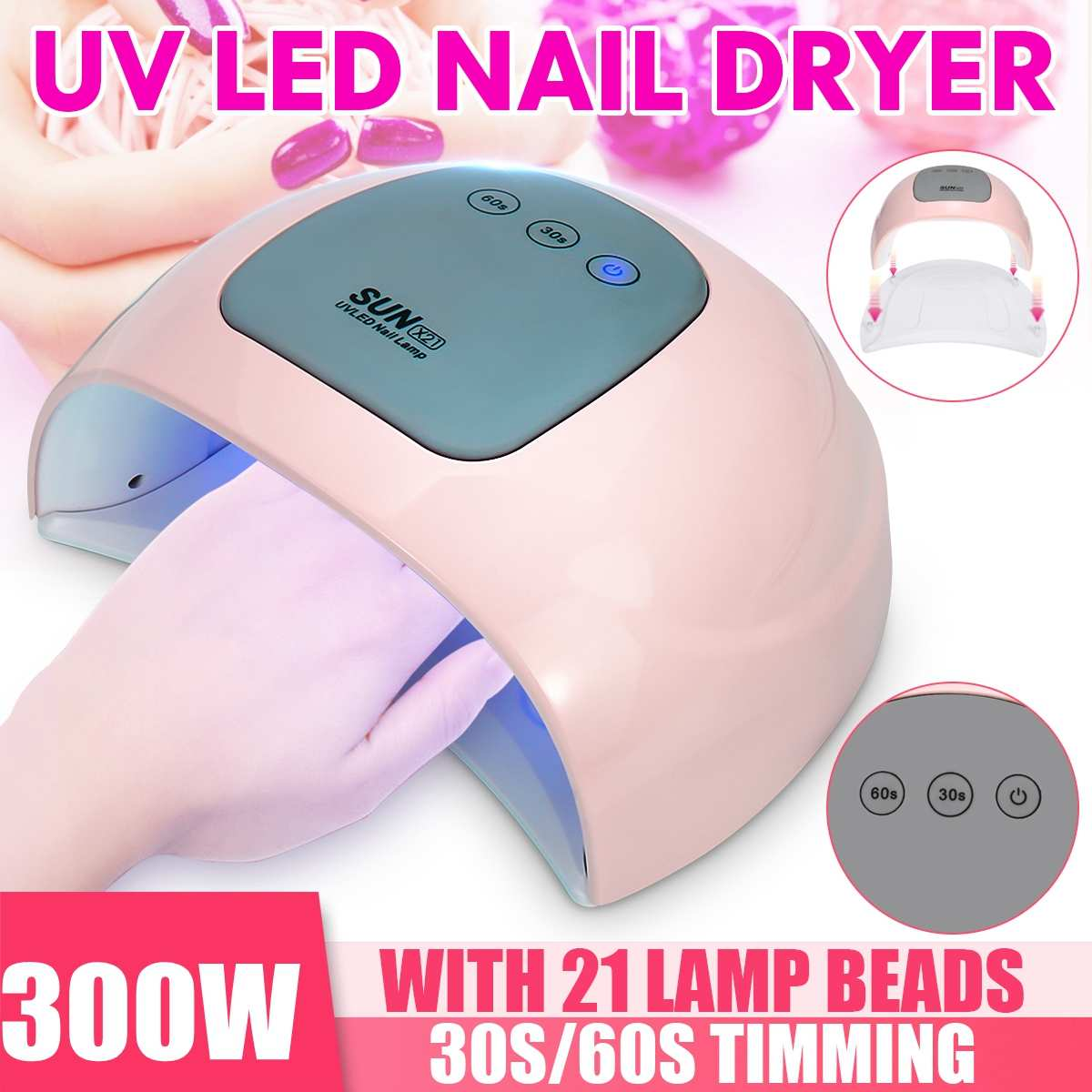 36/120/200/300W Nail Dryer Fast Speed Gel Light Nail Lamp LED UV Lamps For All Kinds Of Gel Nail Art Care Sanding Buffer