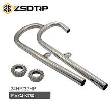 ZSDRTP CJ K750 Motorrad Auspuffrohr mit Muttern 24HP 32HP für BMW K750 R71 R12 CJ k750 Ural M1 M72 und Dnepr MT12