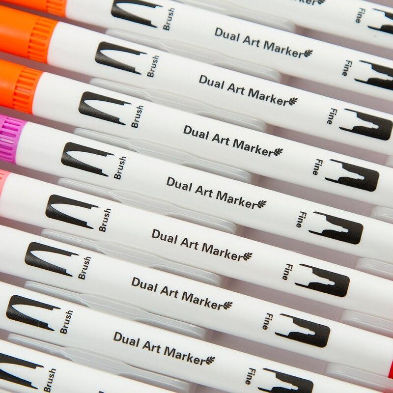 flexivel escova fineliner dicas efeitos de aquarela marcadores 05