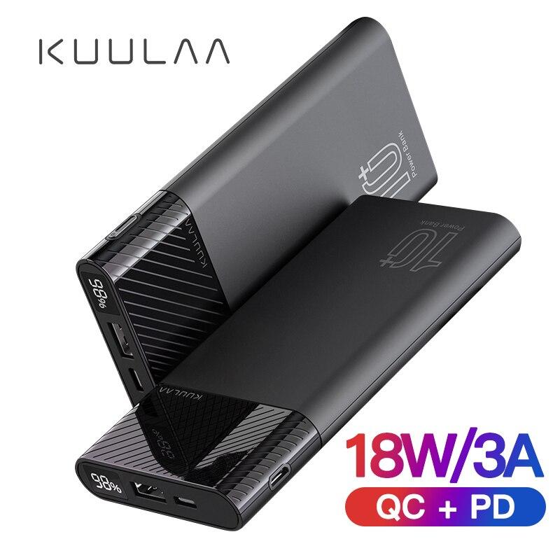 Batería Externa KUULAA 10000mAh QC PD 3,0, cargador portátil de carga rápida, batería externa para xiaomi mi 9 8 iPhone 11 X pawer Bank
