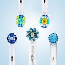 Cabeças orais da escova de dentes de b 4 unidades/pacote para cabeças substituíveis giratórias da escova de dentes