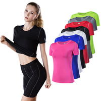 2019 Yoga Top For Women Quick Dry Sport Shirt Women Fitness Gym Top Fitness Shirt Yoga Running T-shirts Female Sports Top