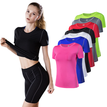 2019 Yoga Top For Women Quick Dry Sport Shirt Fitness Gym Running T-shirts Female Sports