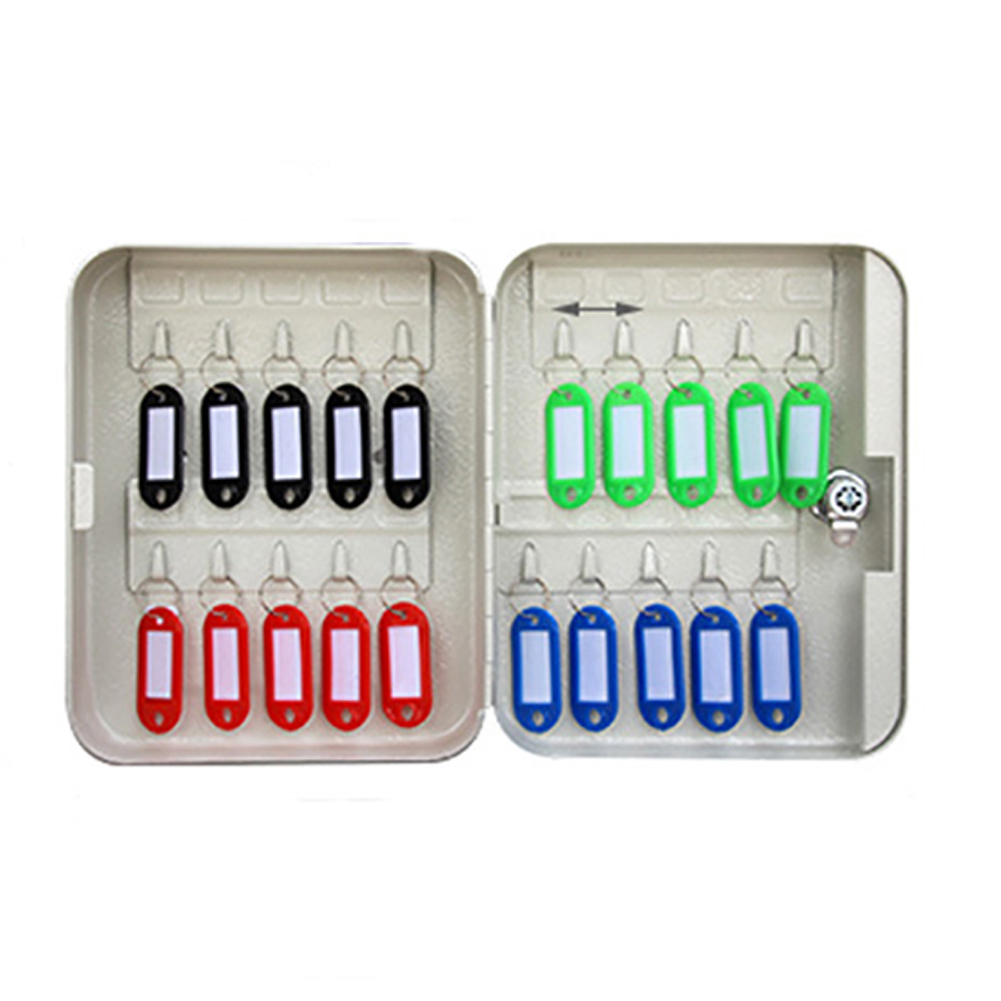 Password Key Safe Box Lockable Car Office Home Storage Cabinet Organizer Resettable Code Wall Mounted Metal Combination Lock