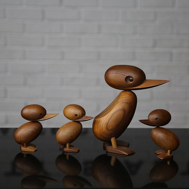 をデンマーク人形木彫りクラシッククリエイティブ装飾品小さなアヒルソフト装飾ハウジング研究デスクトップデコラdecora