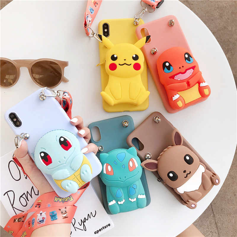 3D Elf ball bear Cartoon Zipper Wallet soft Phone cover for iphone X XR XS 11 pro MAX 7 8 6S plus for samsung S9 S10 Note case
