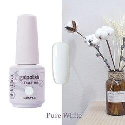 Arte Clavo 8ml Pure Colors Series Gel Nail Polish White Black Nude UV/LED Soak Off Gel Polish Lacquer Nail Art Manicure Varnish