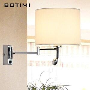 Image 2 - BOTIMI LED 침대 옆 벽 램프 거실에 대 한 Applique Murale Luminaire 벽 Sconce 침실 현대 호텔 프로젝트 조명