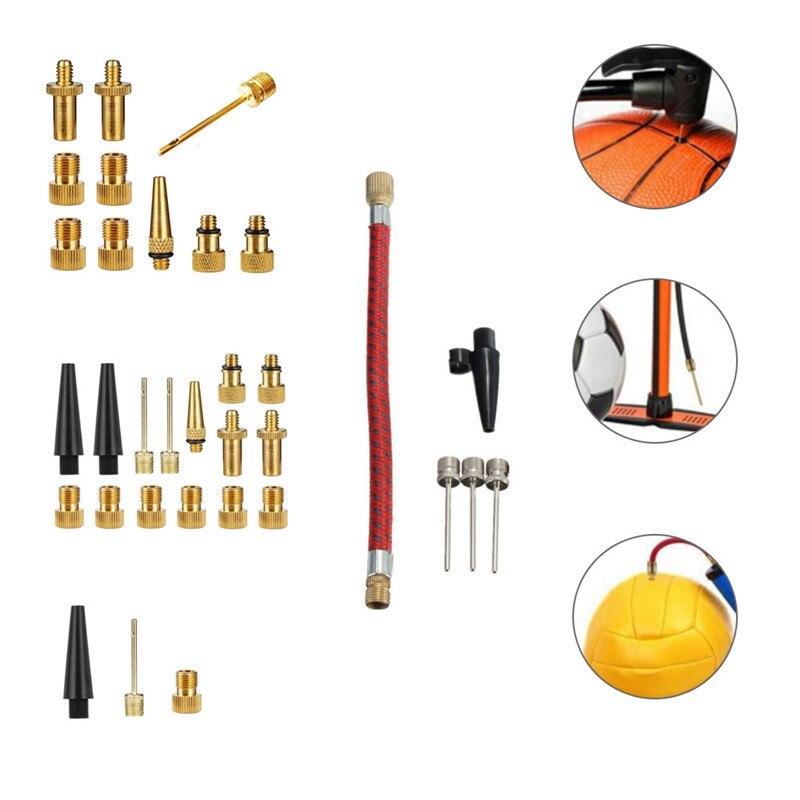 New Sets NEEDLES HOSE SPORTS BALL BIKE Inflator Kit Air Pump v!