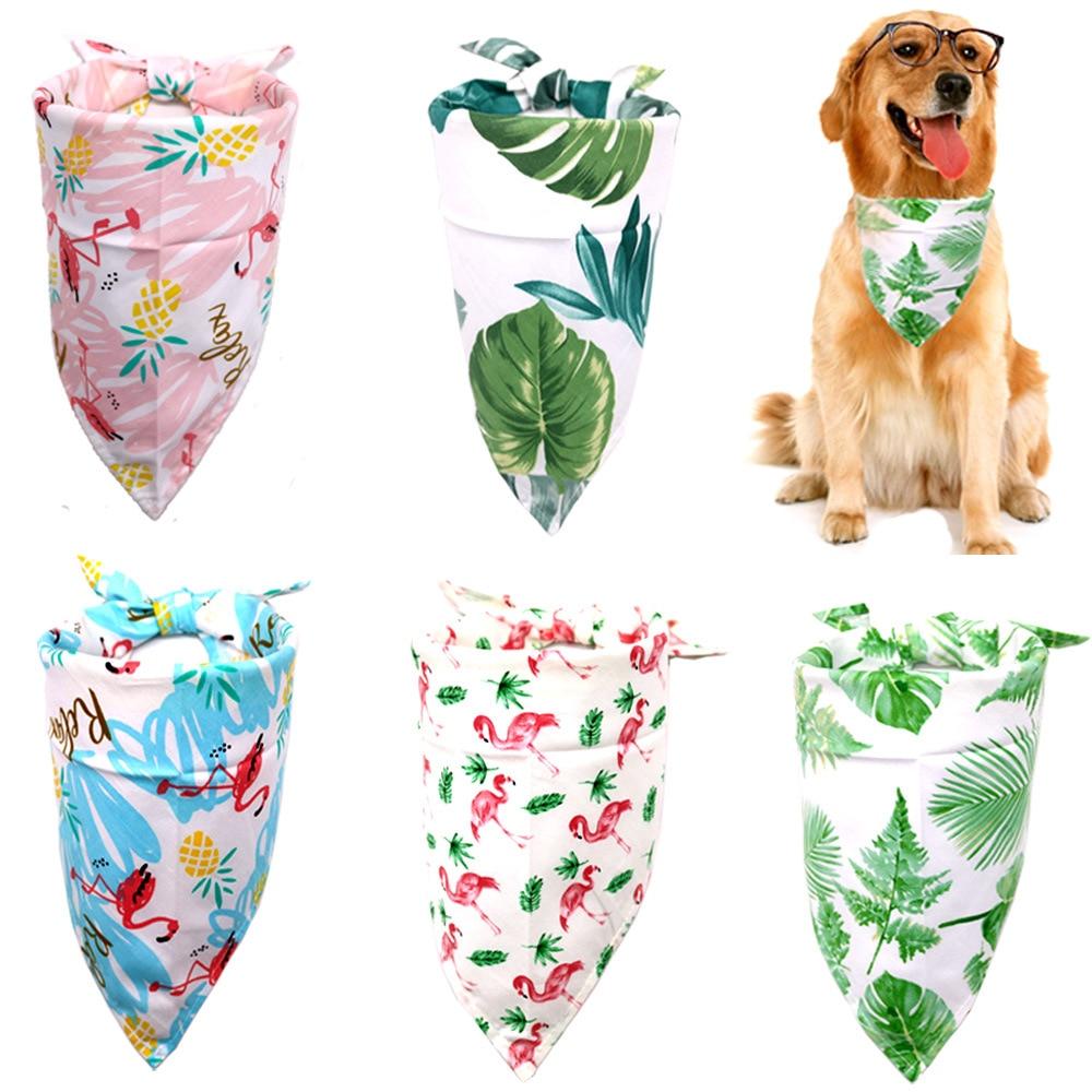 New Design Dog Cat Bandana Bibs Tropical Rainforest Style Cute Puppy Dog Scarf Adjustable Personalized Dog