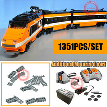 New RC Motorized Motor Power Functions Out of Print The Sky Train Fit Technic 10233 Model Building Blocks Bricks Toys Birthday