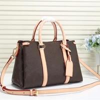 Bag For Women Classic Brown Printed Flowers in Women's Bag Pvc Leather Handbag Tote Brand Designer Bags Laides Bolsa