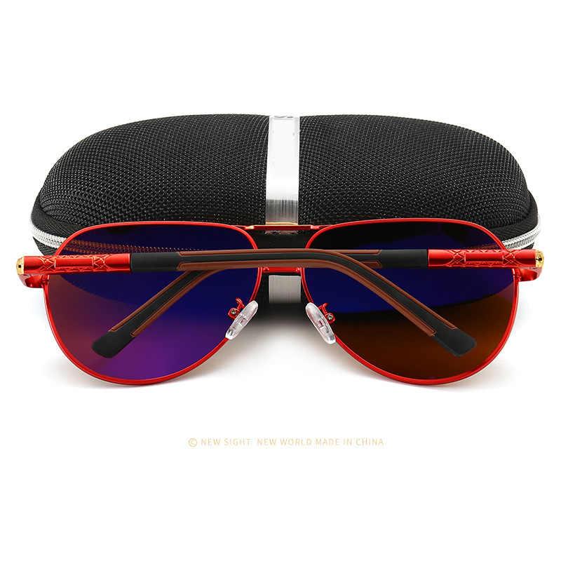 แว่นตากันแดดผู้ชายPolarizedคุณภาพสูงUv400 Anti Glareแว่นตากันแดดผู้หญิงยี่ห้อDesigner Retroแฟชั่นPilot