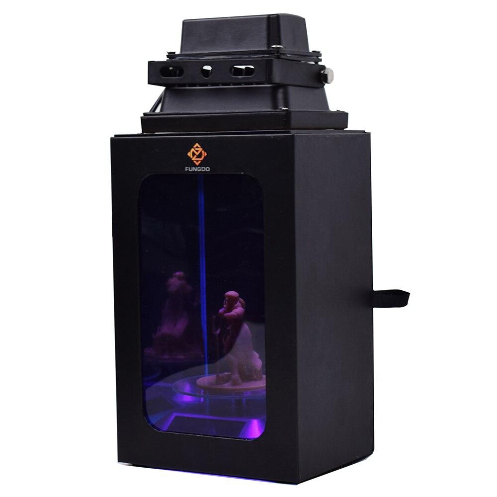 SLA DLP LCD 3D 프린터 용 선물 상자 인클로저가있는 UV 수지 경화 램프 405nm uv 수지 자동 태양 턴테이블