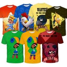 Модная новинка 2020 года, футболка с 3D принтом «Игра бравол Леон» Детская футболка подарок для детей, футболка Топ с короткими рукавами и рисунком аниме для мальчиков и девочекФутболки    АлиЭкспресс