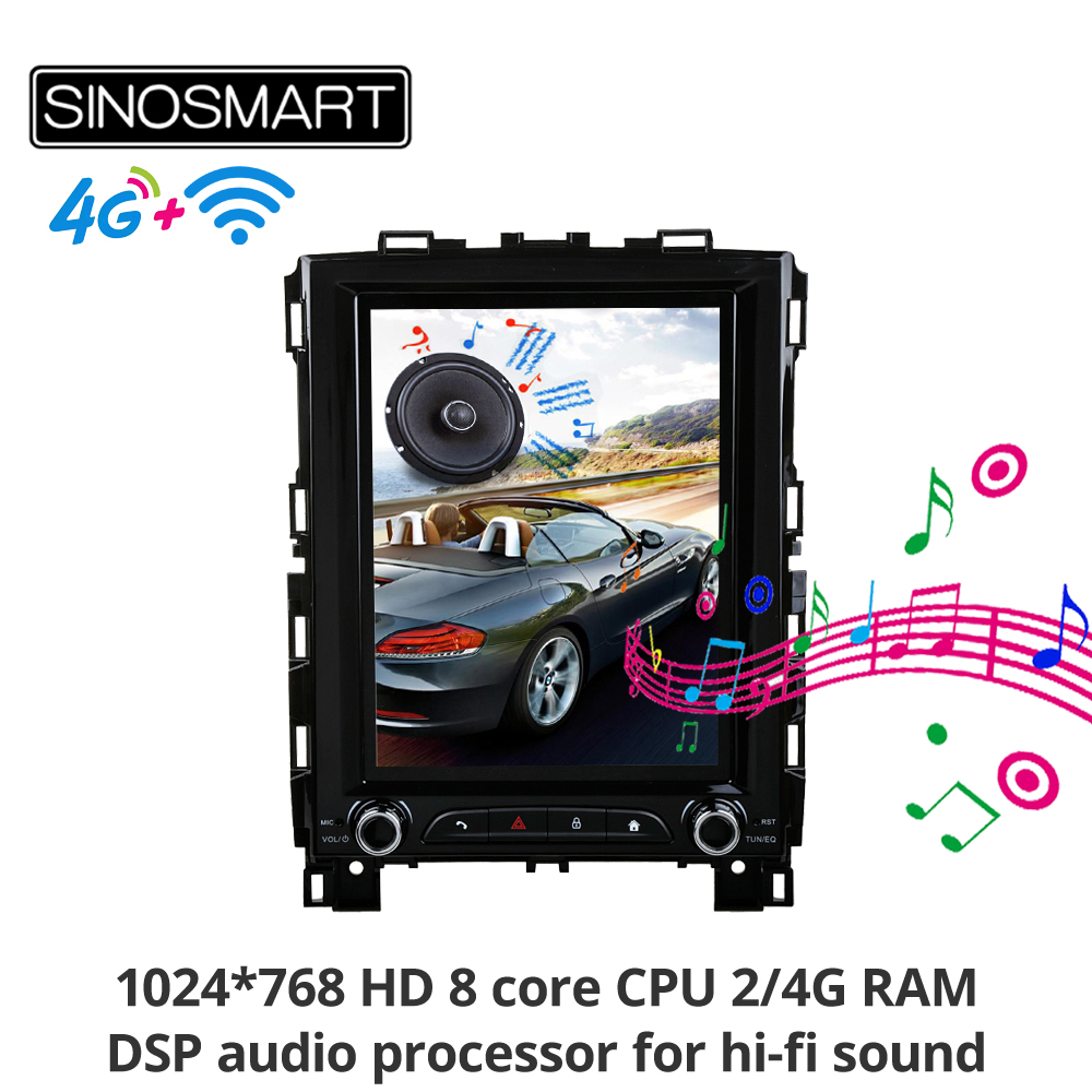 Sinosmart Tesla style Vertical HD screen car <font><b>gps</b></font> radio navigation player for