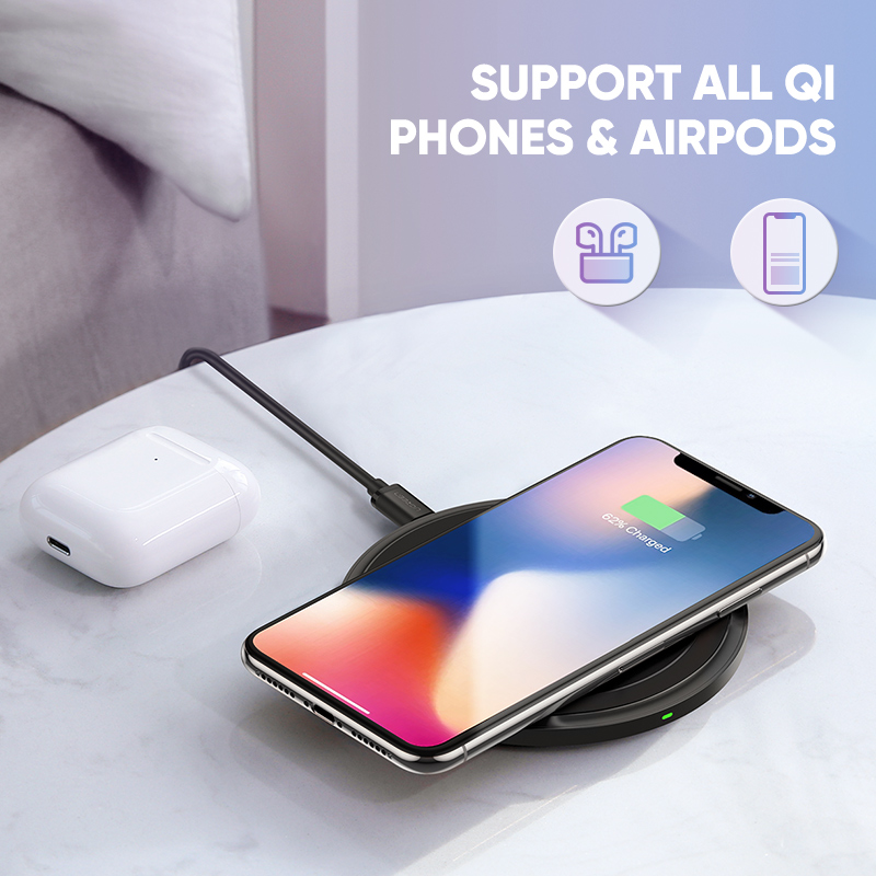 Image 2 - Ugreen Wireless Charger for iPhone 11 X Xs Xr 8 10W Qi Fast Wireless Charging Pad for Samsung S10 Note 9 AirPods Xiaomi Charger-in Wireless Chargers from Cellphones & Telecommunications