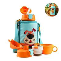 Baby Nozzle Straw Creative Stainless Steel Cup Children's Cup Baby Portable Feeding Bottle With Straw Leak Proof Durable Water C