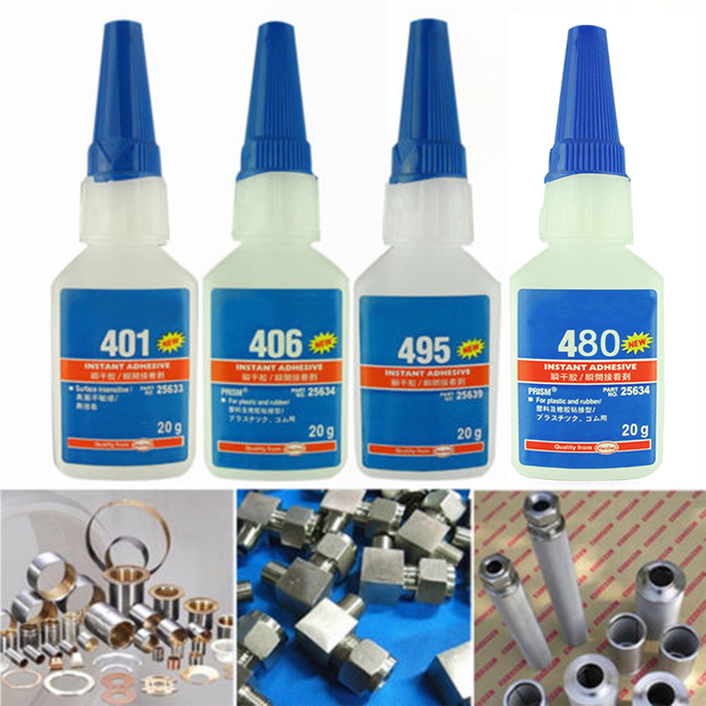 For Office/School Super Glue For Plastic/Wood Liquid Glue Strong Bottle Stronger Instant Adhesive Quick-drying 406/480/403/495