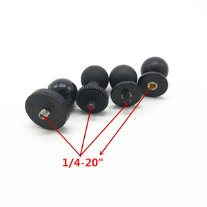 Image 2 - محول تثبيت الترايبود 1 بوصة تحميل كروي إلى 1/4 برغي محول ل Gopro عمل كاميرا GPS رام جبل تحميل كروي حامل