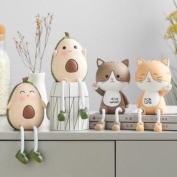 Decoración moderna para el Hogar Accesorios de habitación Accesorios Hogar lindo Animal de resina Mini ornamento conejo miniatura regalo de decoración