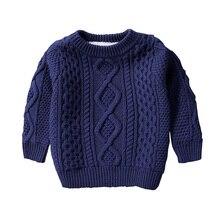 子供服男の赤ちゃんの綿暖かいプルオーバーぬいぐるみインサイドセーターの冬の秋のニットルーズジャケット 1 12Y 子供トップス