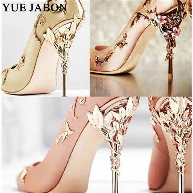 Luxury Women Shoes White pointe shoes Flower Heel Wedding Shoes Women Elegant Silk Brand Design heel shoes Ladies high heels