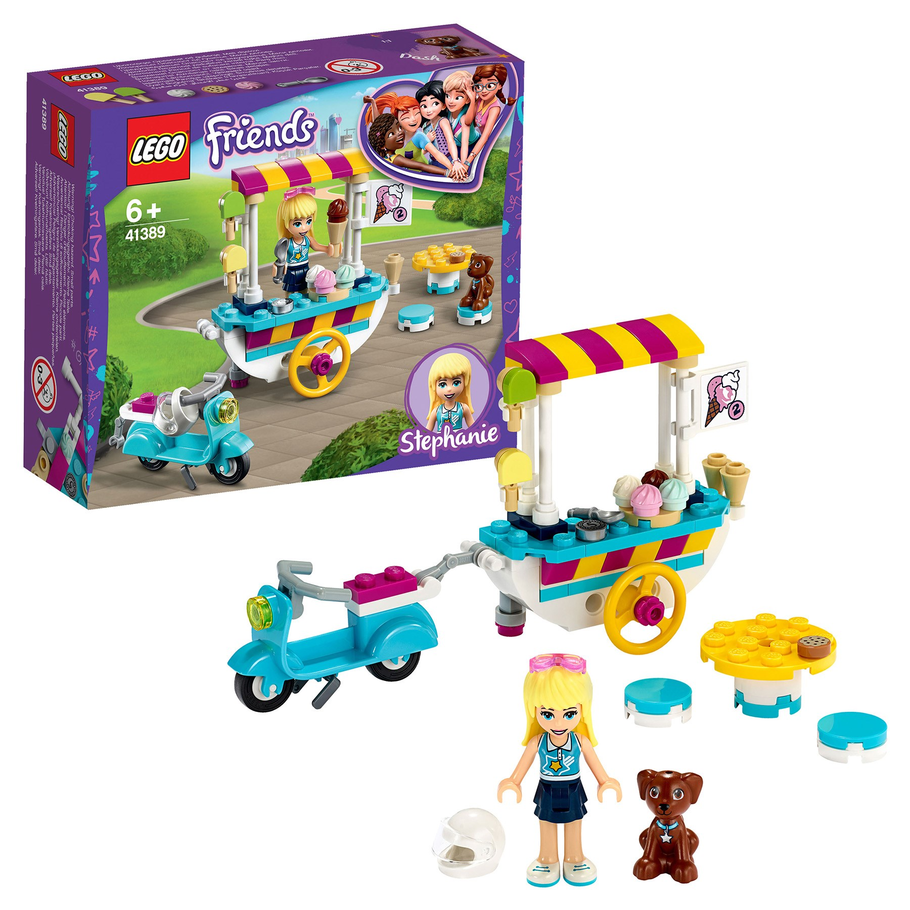 Designer Lego Friends 41389 Trolley With Ice Cream