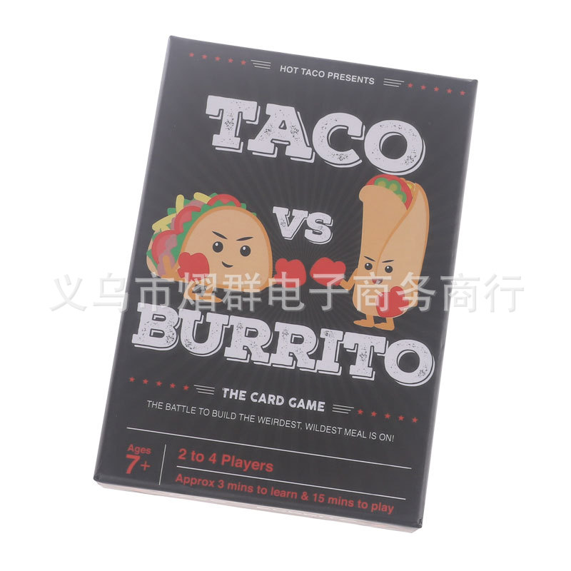 Full English Version Of TACO VS BURRITO Party Strategic Card Game Board Games Toys