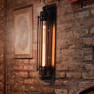 E27 Industrial 110-220V Vintage Wall Lamp Iron Loft Lamps Bedroom Corridor Restaurant Pub Edison Retro Wall Lamp Sconces(China)