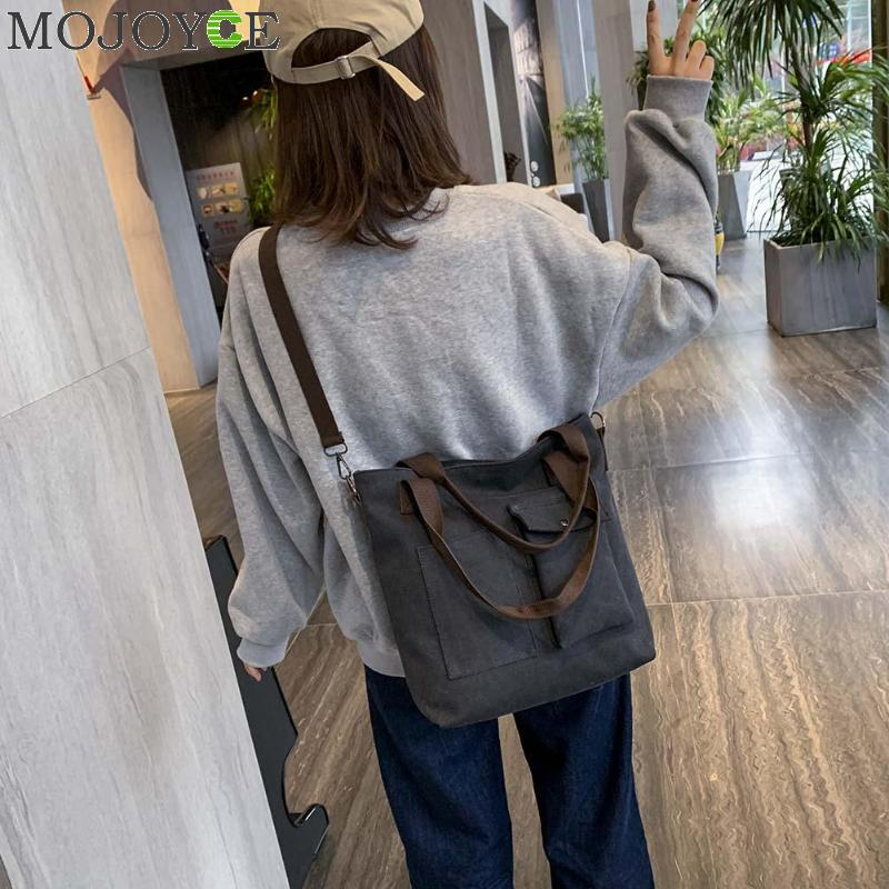 Large Canvas Tote Bag Casual Daily Cross-body Hobo Handbags with Detachable Shoulder Strap 1