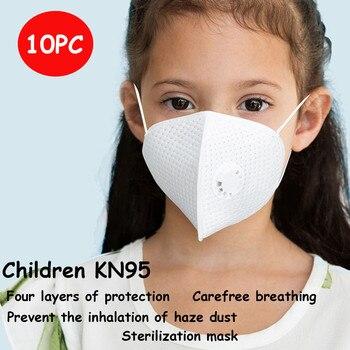 Filtro de cuatro capas 10 Uds. De China máscara de polvo para niños Válvula de ventilación segura protección contra la contaminación filtro máscara de válvula certificada