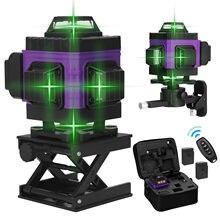 16/12 Lines 4D/3D Laser Level Green Line Self-Leveling 360 Horizontal Vertical Super Powerful Laser Level Green Beam Laser Level