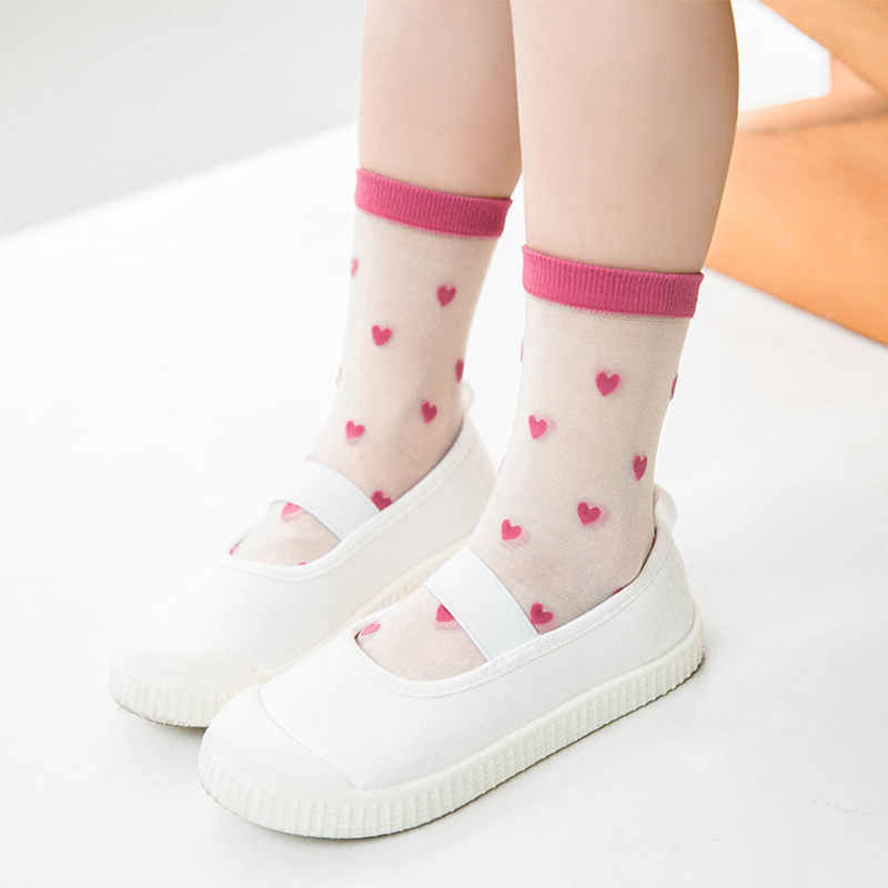 Kids Crystal Summer Sock Child Girls Boys Toddler Short Cotton Cute Thin Fluorescence Transparent Socks Baby Accessories Fashion