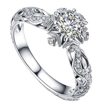 Nowe pierścionki musujące pierścionki wykwintne kształt kwiatu hollow pierścień kobiet zaręczyny biżuteria ślubna pierścionki akcesoria prezent кольца X5 tanie i dobre opinie WOCLEILIY CN (pochodzenie) Miedziane Kobiety Metal TRENDY Obrączki ślubne Nieregularne Details page Rings Brak Rocznica