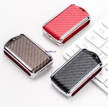 Car Leather Carbon Fiber Key Case For Volvo XC40 XC60 S90 XC90 V90 2017 2018 2019 T5 T6 T8 Smart Remout Key Cover Replacement