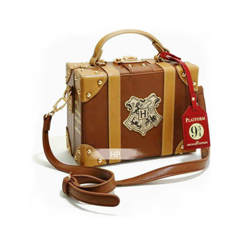 PU Material Potters Series Cosplay Hogwarts Magic School 8 Inch Handbag Travel Small Box Girl Diagonal Shoulder Bag