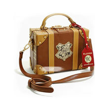 PU Material Potters Series Cosplay Hogwarts Magic School 8 Inch Handbag Travel Small Box Girl Diagonal Shoulder Bag(China)