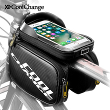 CoolChange Bike Bag Rainproof Touch Screen Bicycle Frame Front Head Bag Top Tube Double Pouch Cycling For 6.0 6.2 Inch Accessory стоимость