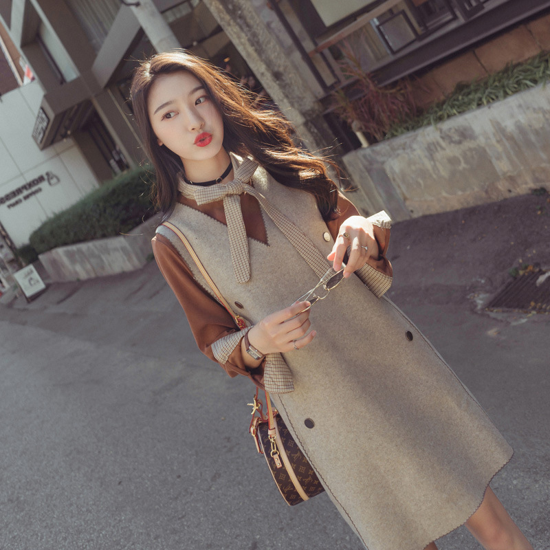 Hip Hop Style WOMEN'S Dress Smell GIRL'S CHIC Early Autumn Clothing Fat Mm Online Celebrity Soft Girl Fashion Fashion Set Two-Pi