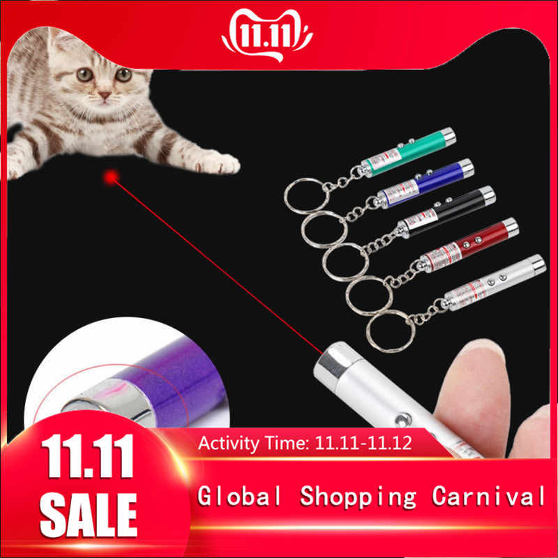 1 PCS Funny Pet LED Laser Pet Cat Toy 5MW Red Dot Laser Light Toy Laser Sight 650Nm Pointer Laser Pen Interactive Toy with Cat